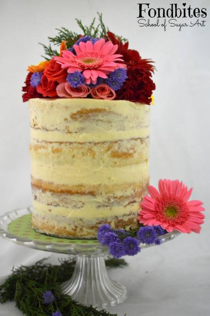 Bake Along #107 – Naked Cake – Sour Cream Cake with Sour Cream Buttercream