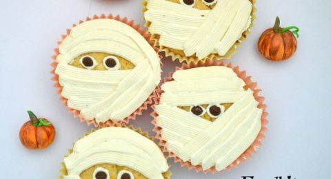 Bake Along #98 – Pumpkin Cupcakes Spiced White Chocolate Mousse